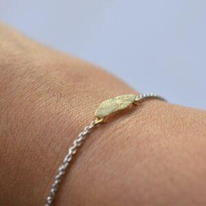 second skin huidafdruk armband goud en zilver persoonlijk juweel