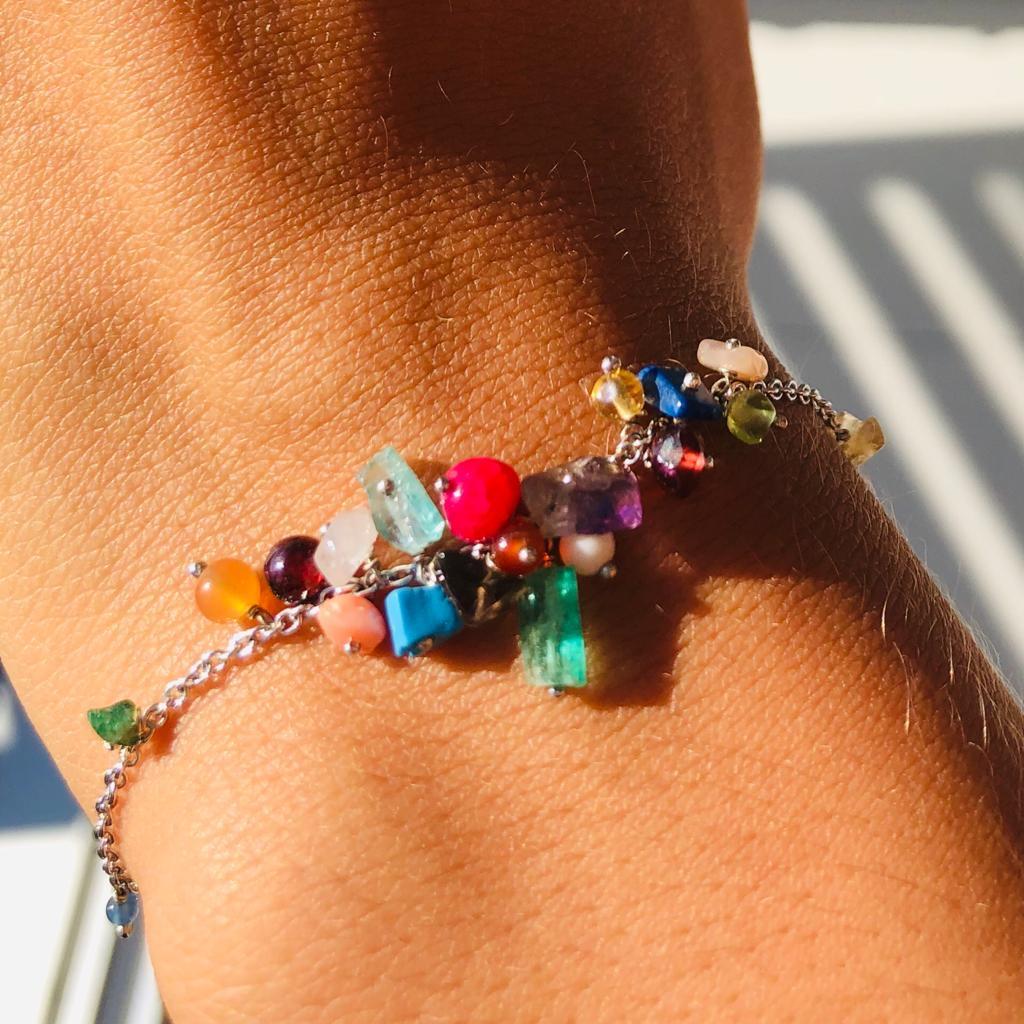 Nico Taeymans armband verzilverd kleuren