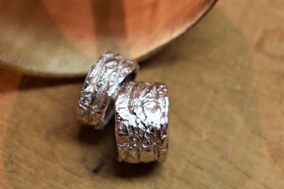 Zilveren trouwringen - Second Skin