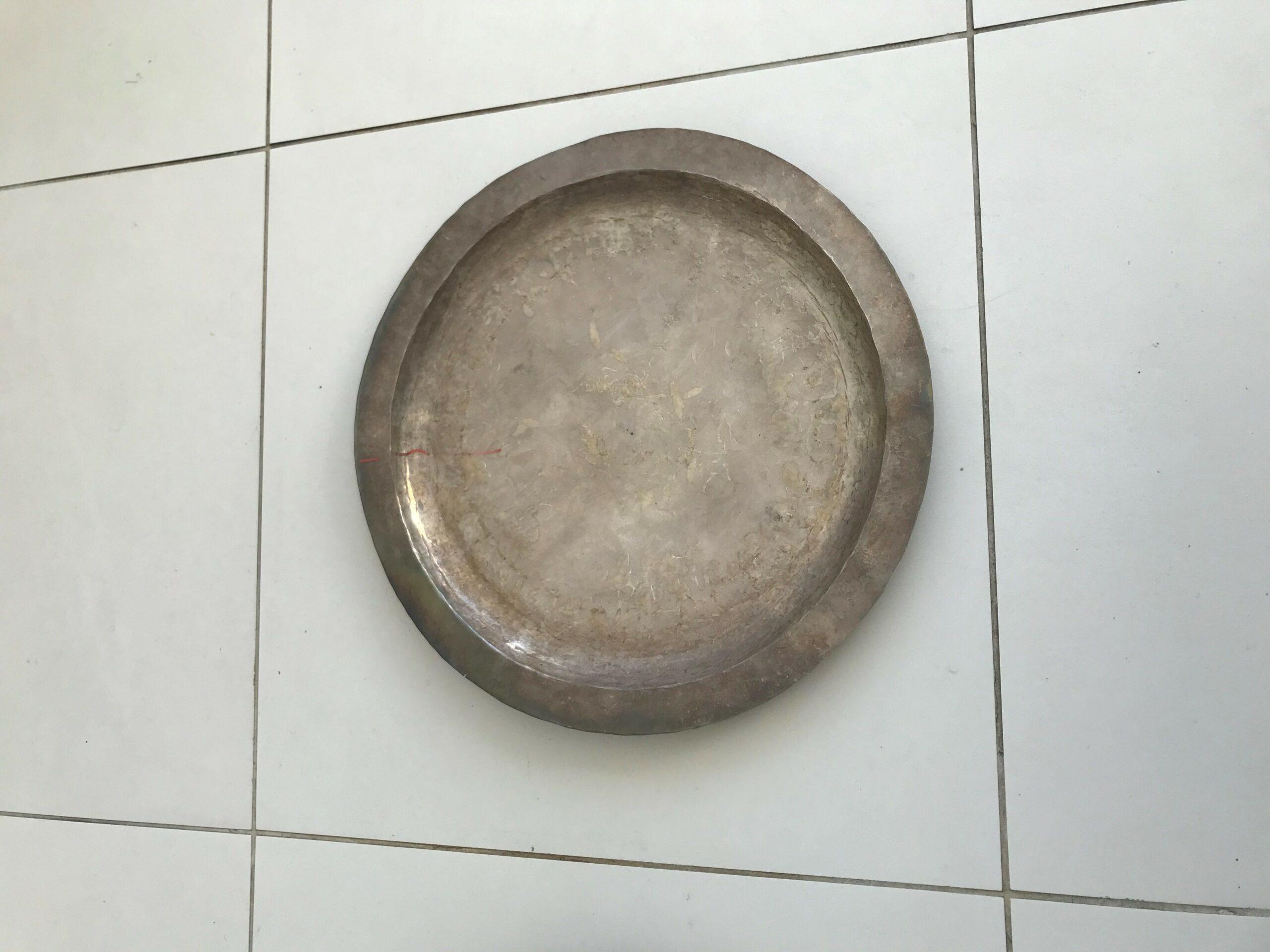 Zilveren bord
