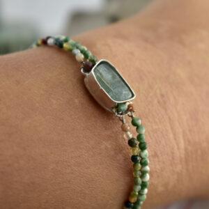 Nico Taeymans armband met apatiet en turkoois