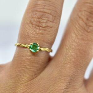 Nico Taeymans AUG ring met smaragd