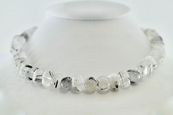 Nico Taeymans collier bergkristal en rutiel